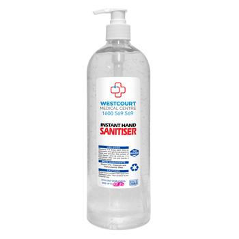 Hand Sanitiser Antibacterial Gel - 1 Litre | HS1L