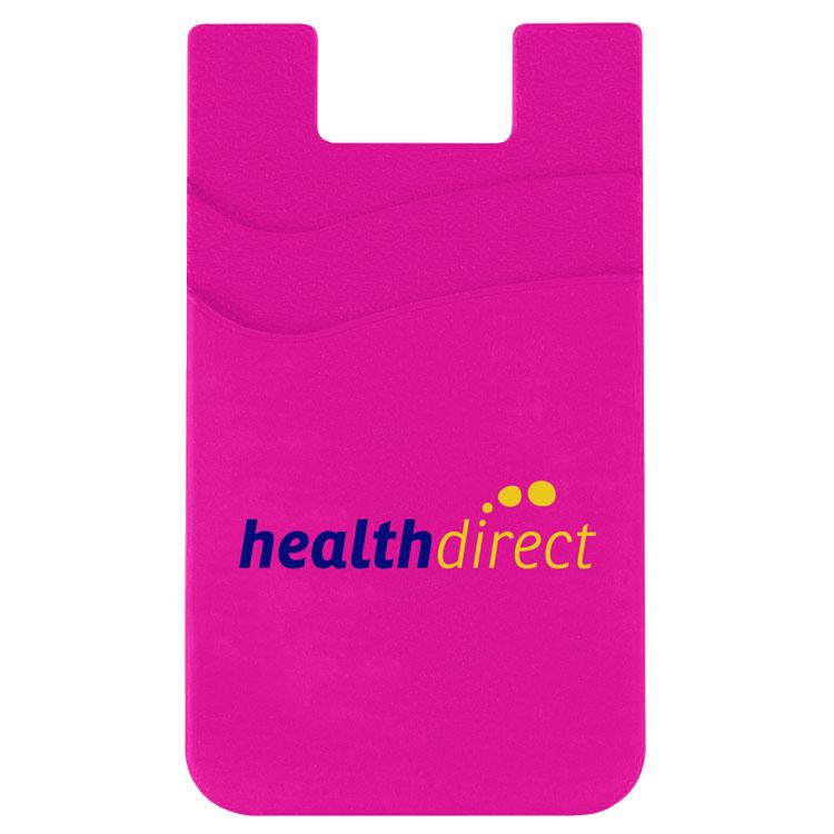 Dual Pocket Silicone Mobile Wallet