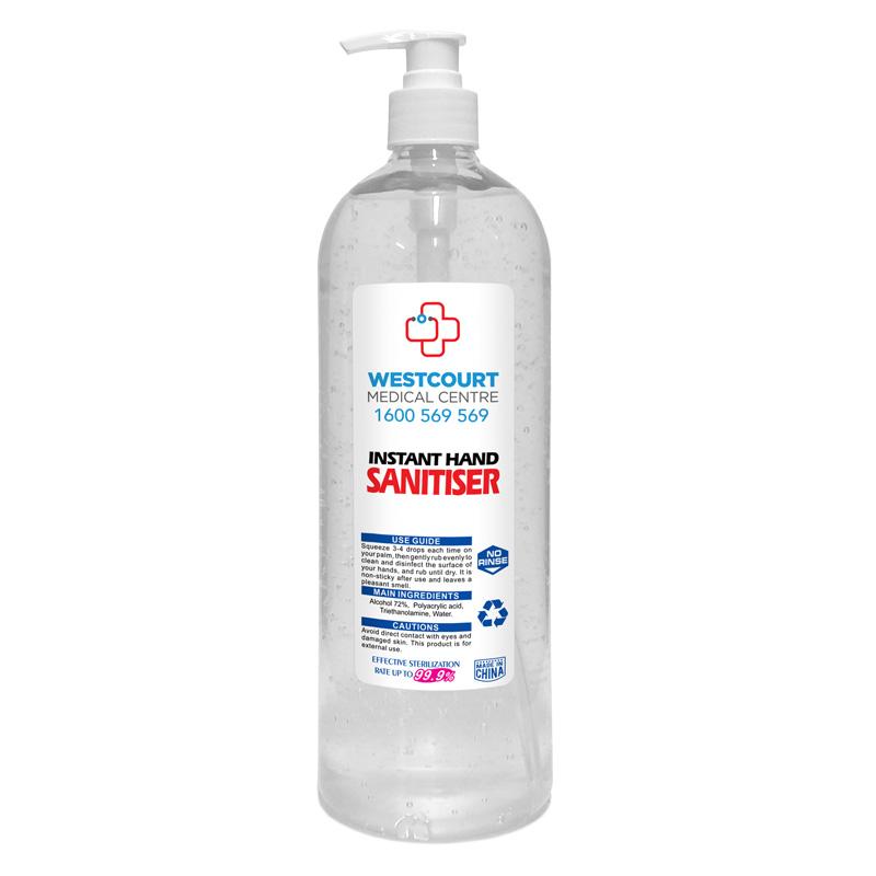 Hand Sanitiser Antibacterial Gel - 1 Litre